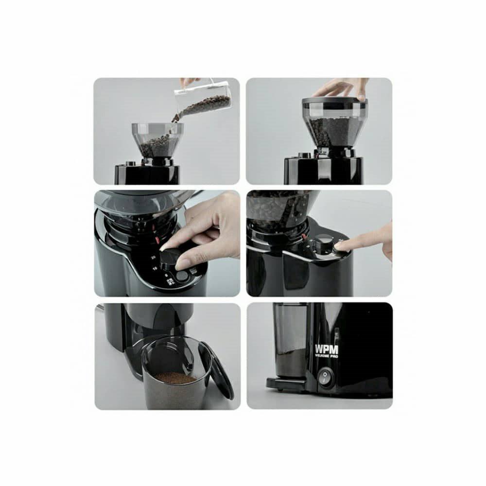 ویژگی های منحصر به فرد آسیاب قهوه برقی WPM مدل ZD 10T
