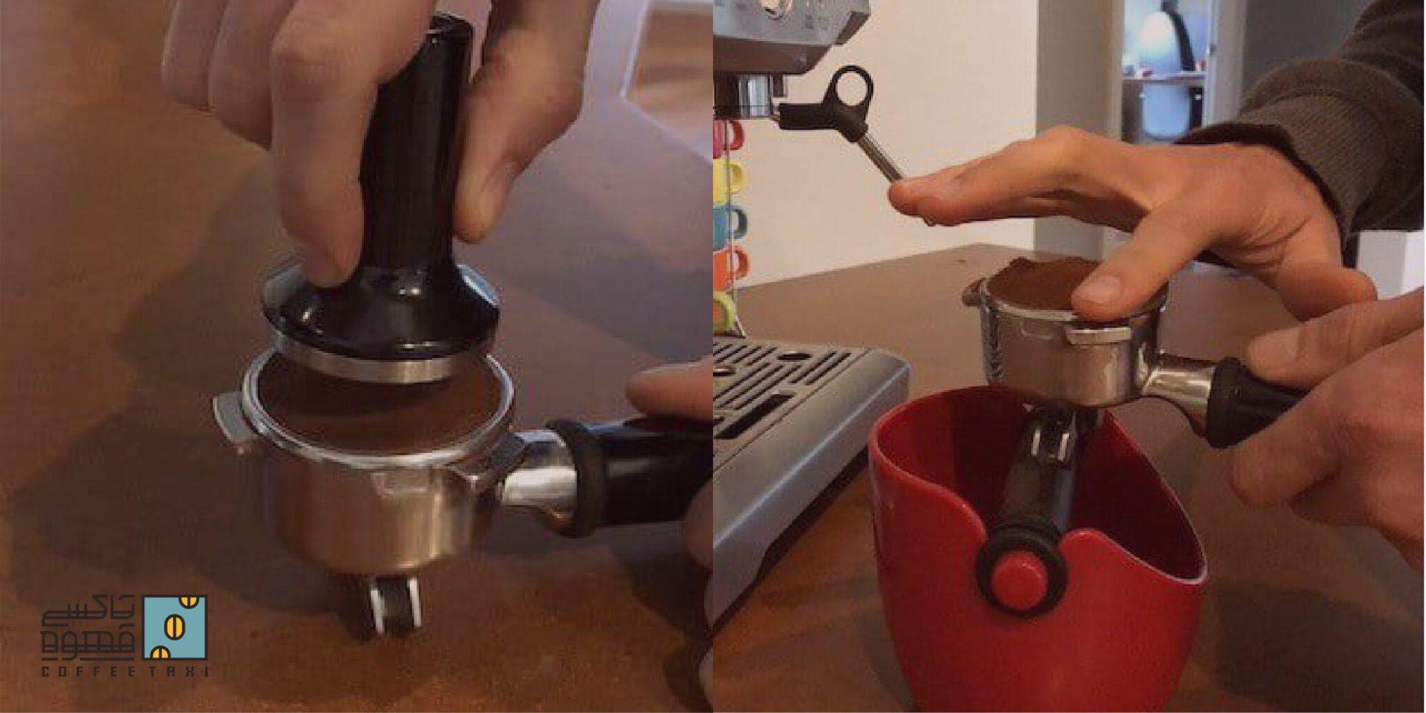 طرز تهیه قهوه اسپرسو با دستگاه خانگی مرحله دوم