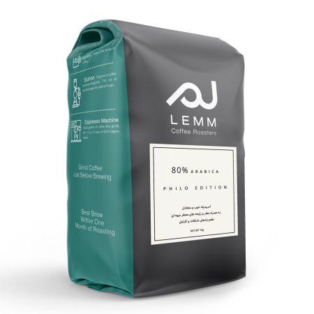 قهوه ترکیبی 80% عربیکا برشته کاری لم – 1 کیلوگرم