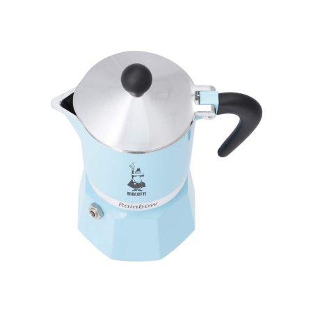 قهوه ساز بیالتی Rainbow آبی – 3 کاپ