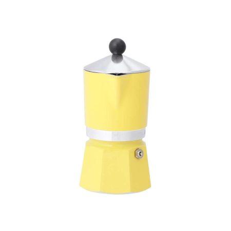قهوه ساز بیالتی Rainbow زرد – 3 کاپ