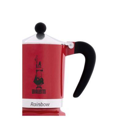 قهوه ساز بیالتی Rainbow قرمز – 3 کاپ
