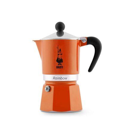 قهوه ساز بیالتی Rainbow نارنجی – 3 کاپ