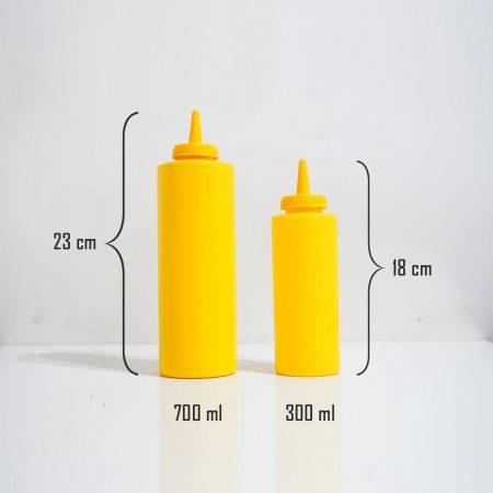 ظرف سس 300 میلی لیتر زرد